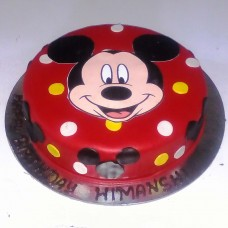 Mickey Mouse Theme Fondant Cake