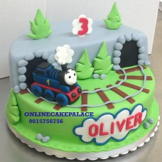 Train Shape Kids Fondant Cake