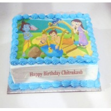Chota Bheem & Friend Photo Cake