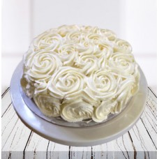 White Roses Ombre Cake